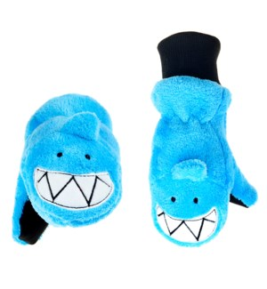 Kids UPF50+ Winter Mitts - Shark 3-6Y
