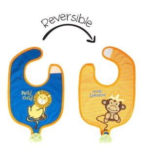 Soother Bibs - Lion/Monkey