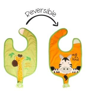 Soother Bibs - Giraffe/Zebra
