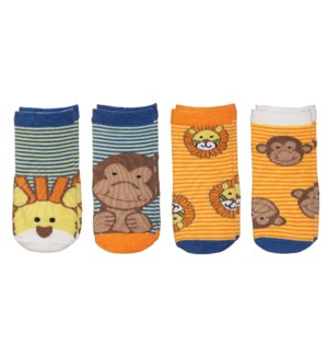 Kids Safari Socks - Lion/Monkey Small