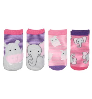 Kids Safari Socks - Hippo/Elephant Small
