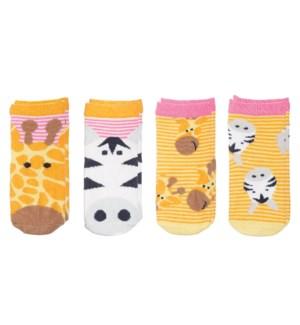 Kids Safari Socks - Giraffe/Zebra Small