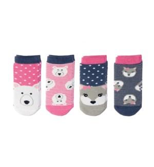 Kids Cabin Socks - Polar Bear/Arctic Fox Small