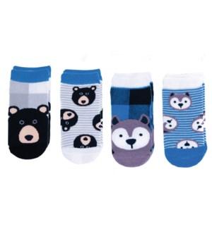 Kids Cabin Socks - Wolf/Black Bear Small