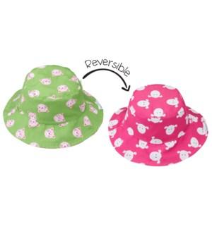 Baby UPF50+ Patterned Sun Hat - Kitten/Lamb X-Small