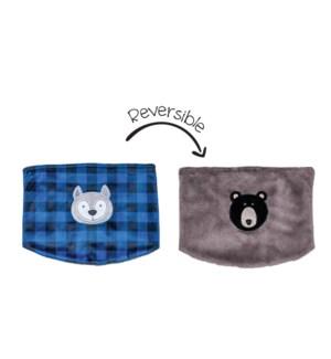 UPF50+ Neck Warmer - Wolf/Bear 3-8Y