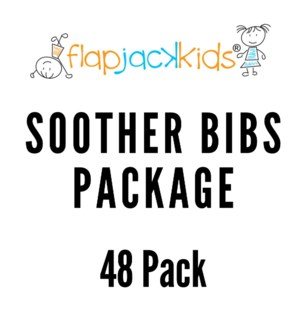 Soother Bibs Package - 48 pack