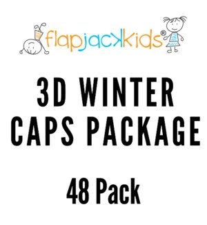 3D Winter Caps Package - 48 pack
