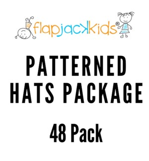 Patterned Hats Package - 48 pack