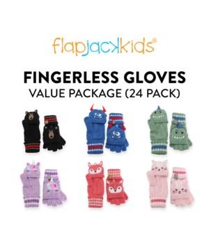 Fingerless Gloves Package - 24 pack