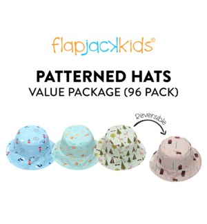 Patterned Hats Package - 96 pack