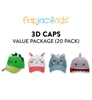 3D Caps Package - 20 pack
