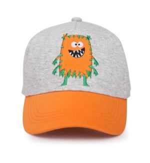 Kids UPF50+ Ball Cap - Monster Orange Medium