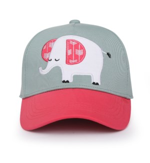 Kids UPF50+ Ball Cap - Elephant Medium