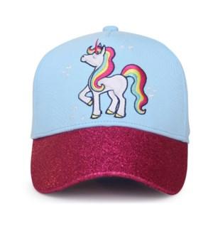Kids UPF50+ Ball Cap - Unicorn Medium