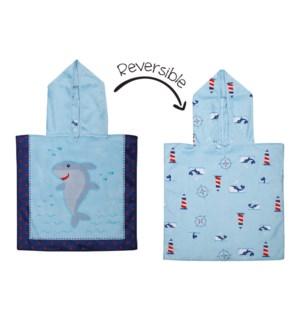 Baby UPF50+ Cover-Up - Shark/Crab/Nautical