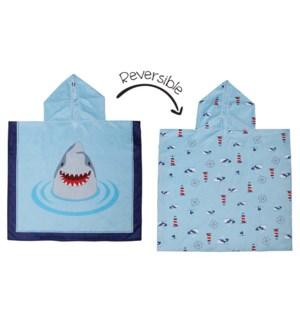 Kids UPF50+ Cover Up - Shark/Nautical Medium