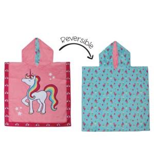 Kids UPF50+ Cover Up - Unicorn/Tropical Medium