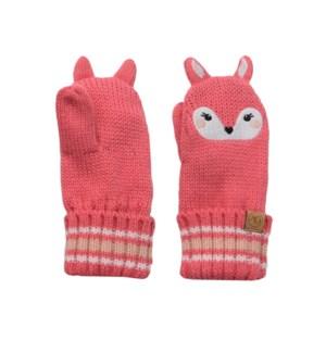 Baby Knitted Mittens - Deer 0-2Y