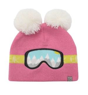 Knitted Toque Ski Goggles Pink Med/Lrg
