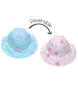 Kids UPF50+ Patterned Sun Hat - Narwhal/Starfish X-Small