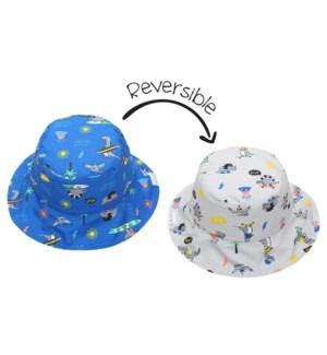 Kids UPF50+ Patterned Sun Hat - Dino X-Small
