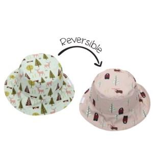 Kids UPF50+ Patterned Sun Hat - Moose/Cottage X-Small