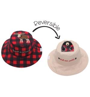 Kids UPF50+ Sun Hat - Moose/Blackbear Small