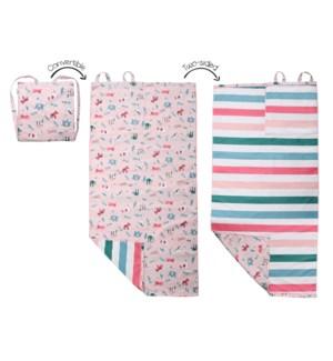 Towel Backpack - Pink Zoo