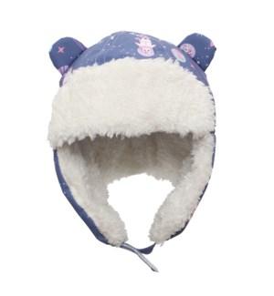 Water Repellent Trapper Hat Unicorn -  Indigo 6-24M