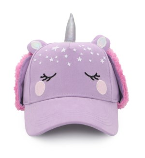3D Caps with Earflaps - Unicorn 2-4Y