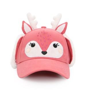 3D Caps with Earflaps - Deer 2-4Y