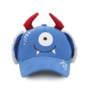 3D Caps with Earflaps - Monster 2-4Y