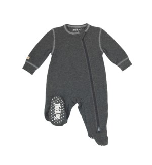 Sleeper in Charcoal Grey Fleck Newborn