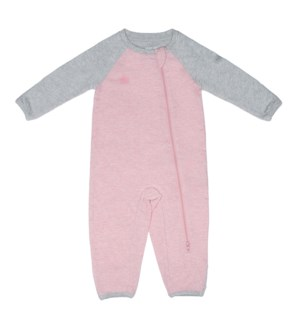 Raglan Organic Playsuit-Dogwood Pink Newborn