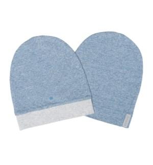 Raglan Organic Hat 2 pack - Denim Blue 0-3mths