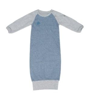 Raglan Organic Nightgown - Denim Blue