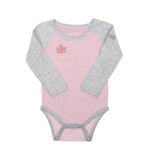 Organic Raglan - Long Sleeve Body Tee - Dogwood Pink Newborn