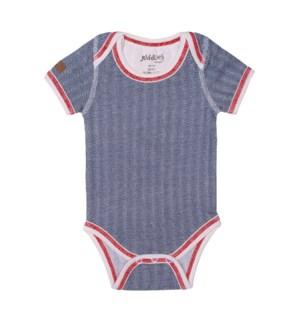 Organic Cottage - Short Sleeve Body Tee - Lake Blue Newborn