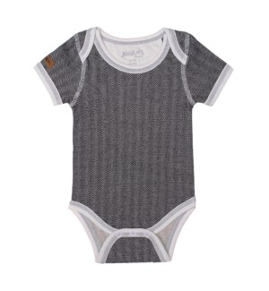 Organic Cottage - Short Sleeve Body Tee - Bear Black Newborn