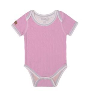 Organic Cottage - Short Sleeve Body Tee - Sunset Pink Newborn