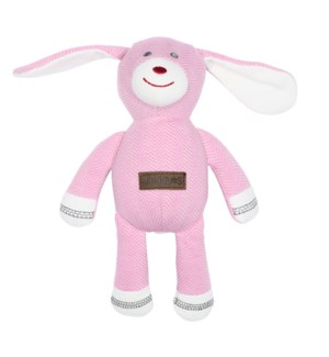 Organic Cottage Collection Rattle Rabbit- Sunset Pink