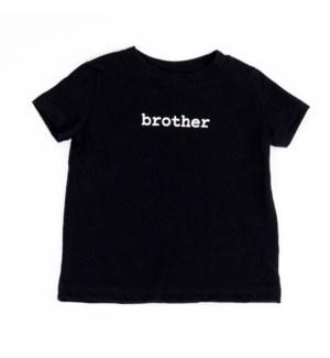 Infant T-Shirt - Brother - Black 6-12M