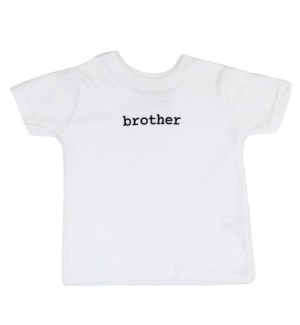 Infant T-Shirt - Brother - White 6-12M