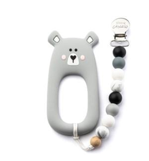 Bear Clip - Grey