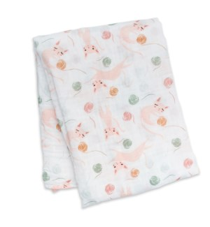 Swaddle Blanket Muslin Cotton - Kitty