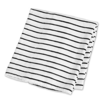 Bamboo Modern Collection - Black Messy Stripes One Size