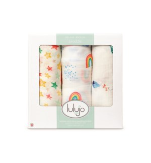 3pk Bamboo Swaddle - High In The Sky