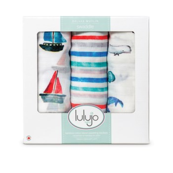 3pk Bamboo Swaddle - Out At Sea