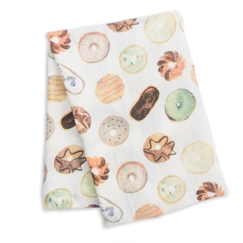 Bamboo Muslin Swaddle - Donuts